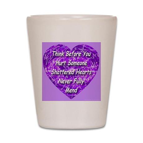 Shattered Heart Violet Shot Glass