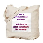 Professional Writer Tote Bag with AW URL