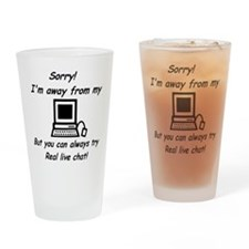 Try Real Live Chat Drinking Glass