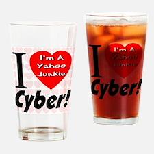 I Love Cyber -- I'm A Yahoo J Drinking Glass