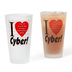 I Love Cyber Drinking Glass