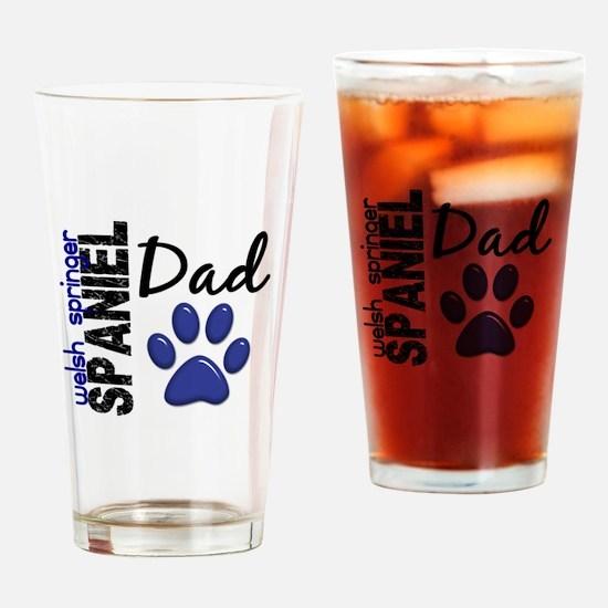 Welsh Springer Spaniel Dad 2 Drinking Glass