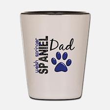 Welsh Springer Spaniel Dad 2 Shot Glass