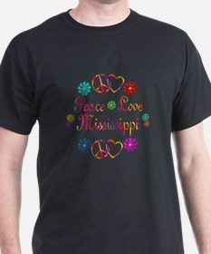 Peace Love Mississippi T-Shirt