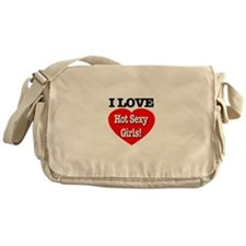 I Love Hot Sexy Girls Style 2 Messenger Bag