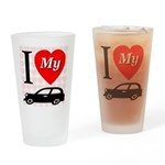 I Love My Auto/Car Drinking Glass