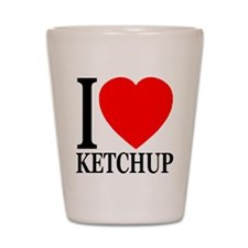 I Love Ketchup Classic Heart Shot Glass