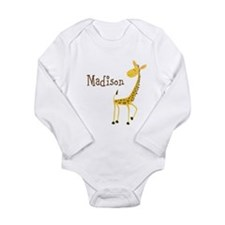 Custom Name Giraffe Onesie Romper Suit