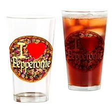 I (Heart) Pepperonie Drinking Glass