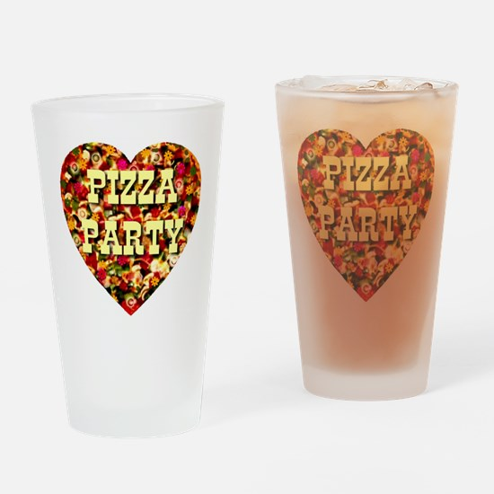 Pizza Party Drinking Glass