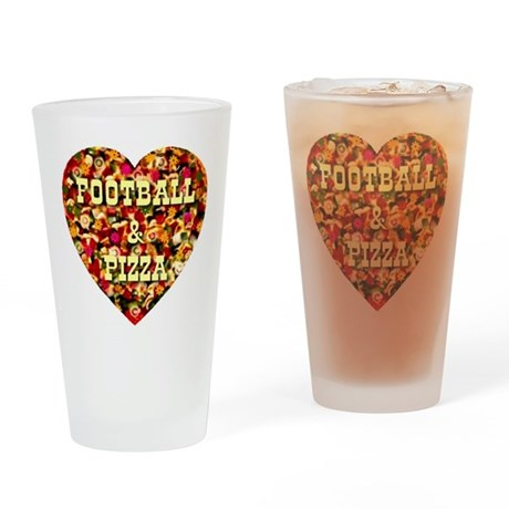 Football & Pizza Drinking Glass