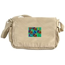 Love Rays Peace 9 Blocks Skyb Messenger Bag
