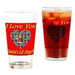 I Love You Santa's Lil Angel Drinking Glass