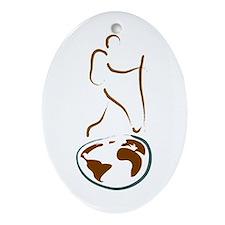 Wanderlust Ornament (Oval)