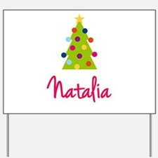 Christmas Tree Natalia Yard Sign