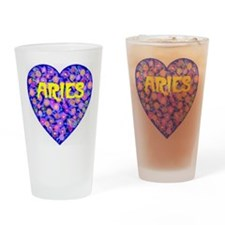 Aries Drinking Glass