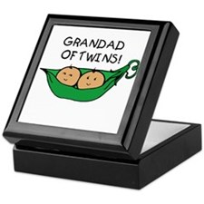 Grandad of Twins Pod Keepsake Box