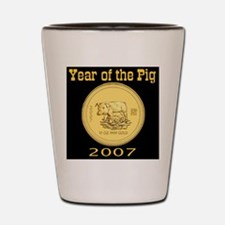 2007 Year of the Pig Shot Glass