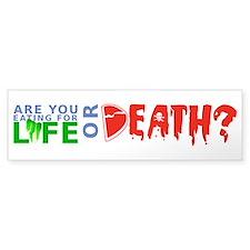 Life or Death Bumper Sticker
