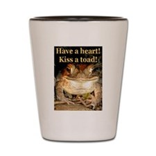 Kiss a toad Shot Glass
