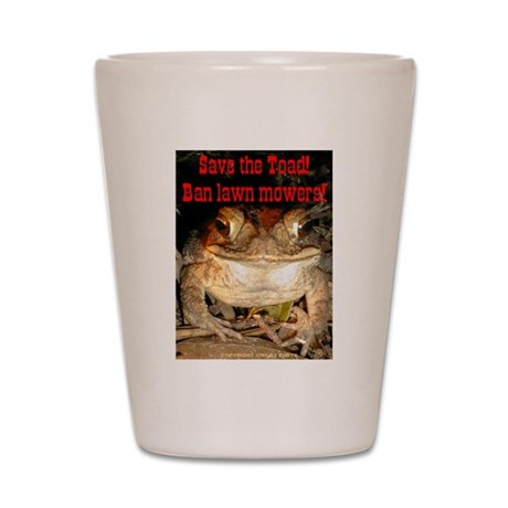 Save the toad Shot Glass