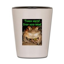 Toads unite Shot Glass