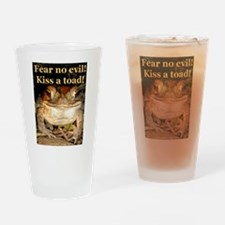 Kiss a toad Drinking Glass