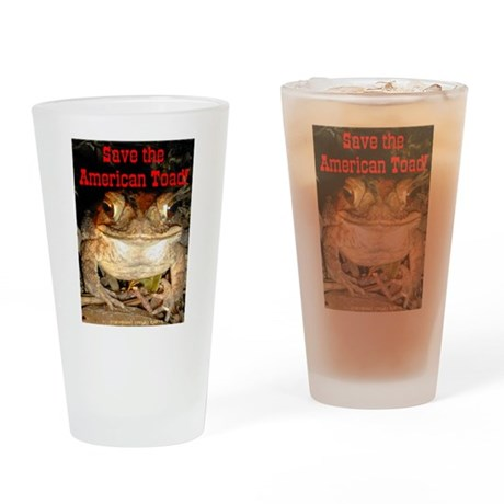 Save Toad Drinking Glass