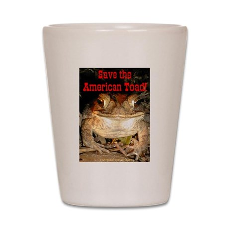 Save Toad Shot Glass