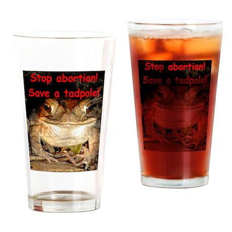 Save a tadpole Drinking Glass