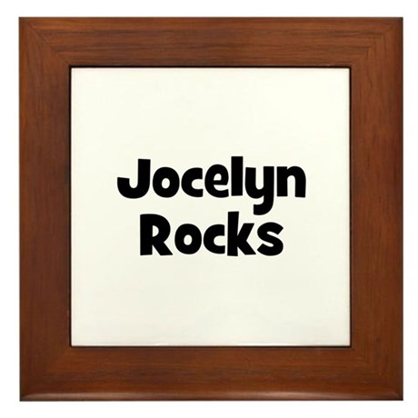 Jocelyn Rocks Framed Tile