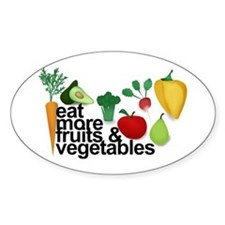 Eat Fruits & Vegetables Decal
