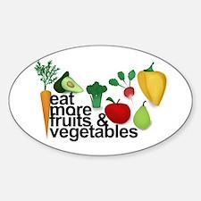 Eat Fruits & Vegetables Sticker (Oval)