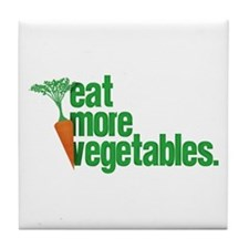 Eat More Vegetables Tile Coaster