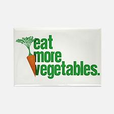 Eat More Vegetables Rectangle Magnet