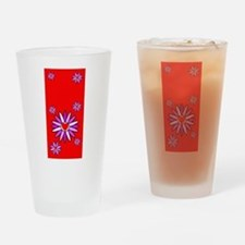 Lotus Blossoms Hot Red Drinking Glass
