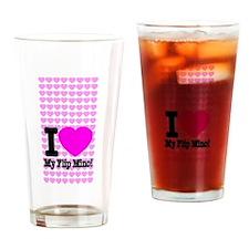 I Love My Flip Mino Drinking Glass