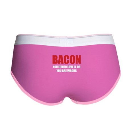 Bacon you either love it Women's Boy Brief