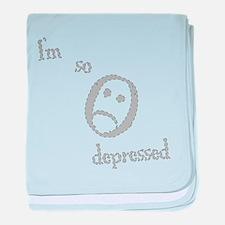 I'm So Depressed baby blanket