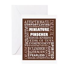 Miniature Pinscher Greeting Card