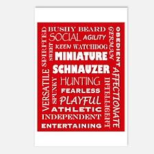Miniature Schnauzer Postcards (Package of 8)