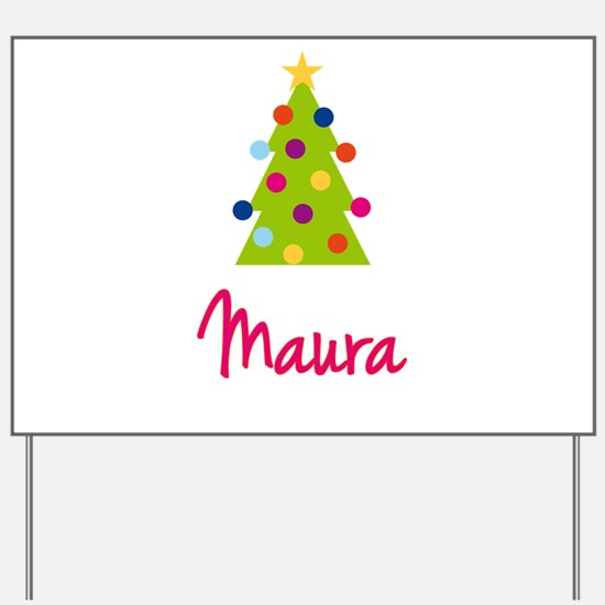 Christmas Tree Maura Yard Sign