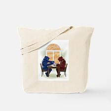 Robot Tea Party Tote Bag