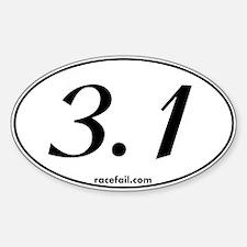 3.1 Oval Sticker 3x5