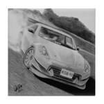 Tile Coaster 370z drift car drawing
