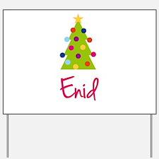 Christmas Tree Enid Yard Sign