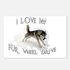 I LOVE My FUR-WHEEL Drive Postcards (Package of 8)