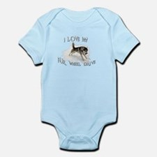 I LOVE My FUR-WHEEL Drive Infant Bodysuit