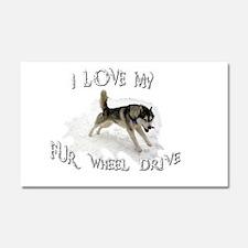 I LOVE My FUR-WHEEL Drive Car Magnet 20 x 12