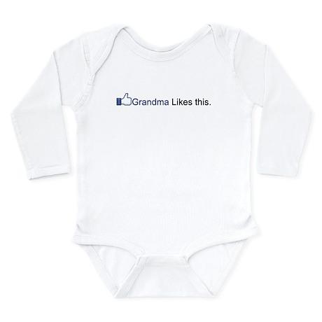 Grandma likes this Long Sleeve Infant Bodysuit